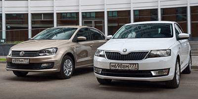 Ходовые качества Skoda Rapid и Volkswagen Polo